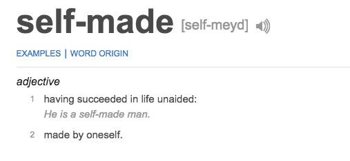 """THEY EVEN DROPPED THE LINK FOR THE DEFINITION OF """"SELF-MADE"""" IN THE TWEET."""