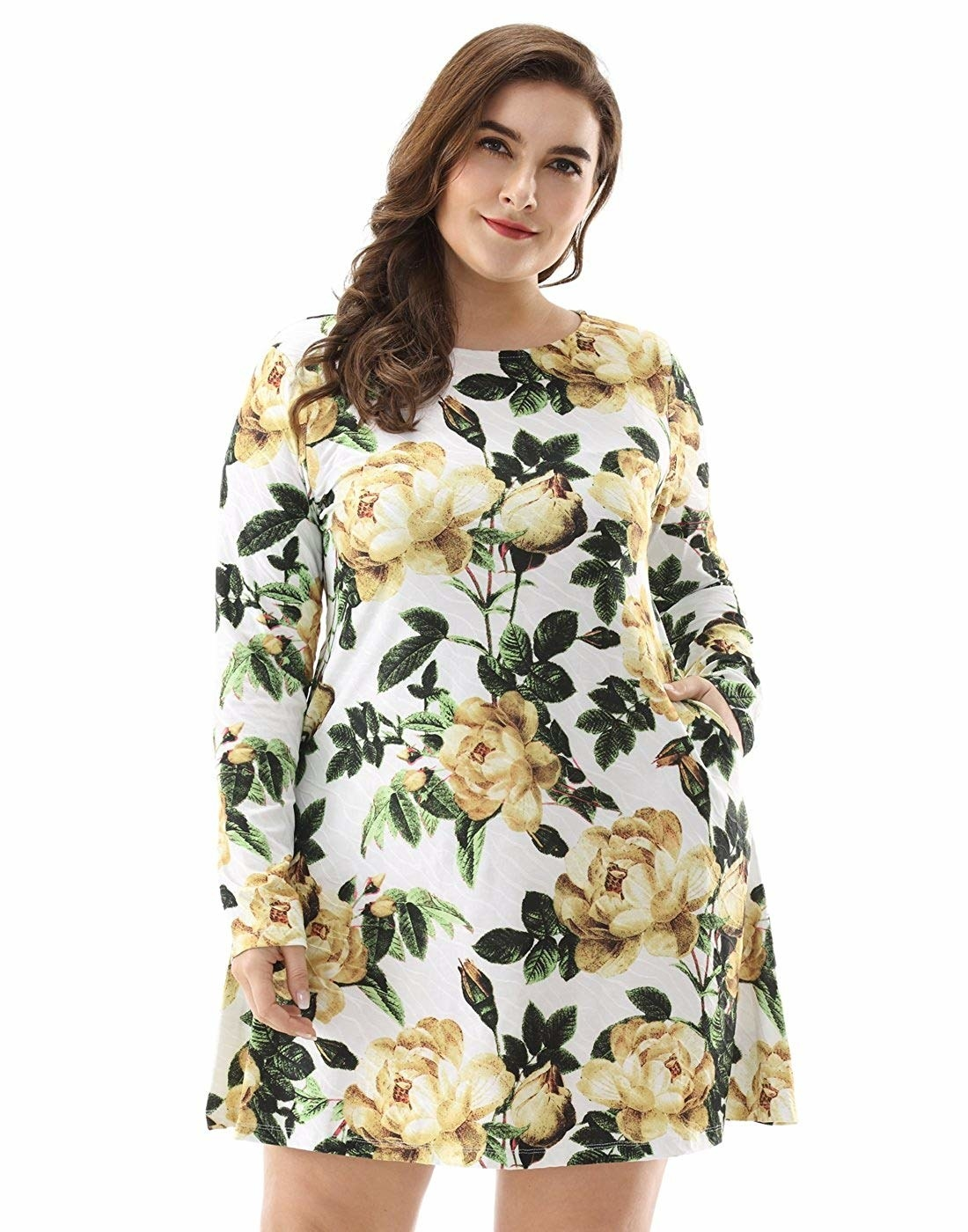 bbafa310f4 A swingy floral number with long sleeves so you can get into the spring  state of mind even when it s still a little chilly. Amazon