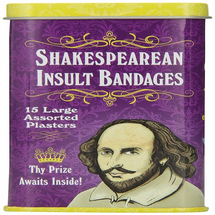 the tin with shakespeare on the front