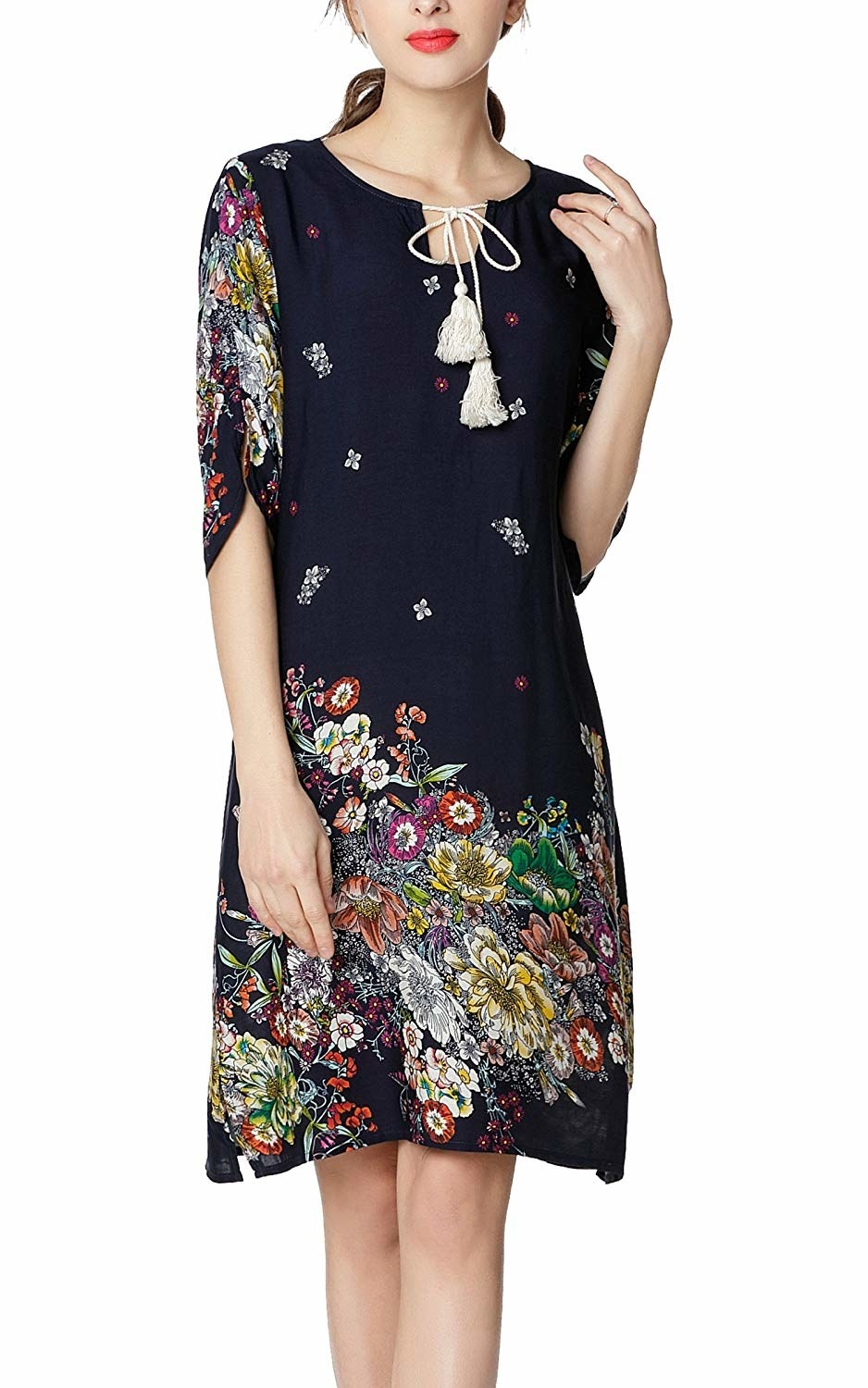 a0255354f33 An amazingly affordable boho tunic dress that s got so many cute details
