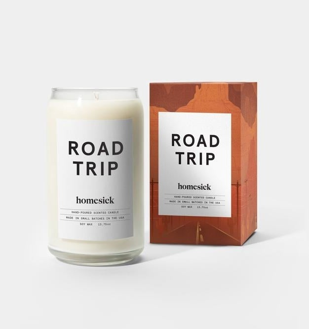 This candle is made from all natural soy wax and features notes of lime, leather, watery, paper, cedarwood, jasmine, amber, and musk.Get it from Homesick Candles and Amazon for $29.95.