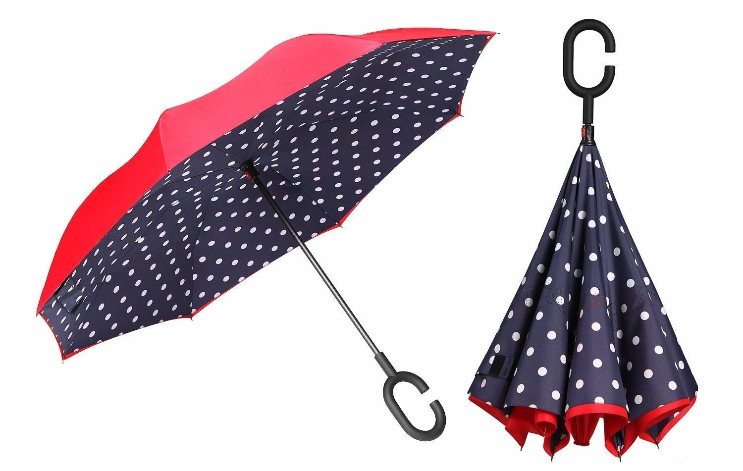 "Promising review: ""I saw this umbrella on one of the home shopping sites and found this cheaper one on Amazon. The design is fantastic — no wire rods to catch in your hair or pinch your fingers. The rain is nicely kept inside the folded umbrella to keep your car dry. Just set it upside down to dry!""—Shopper1972Get it from Amazon for $19.99."