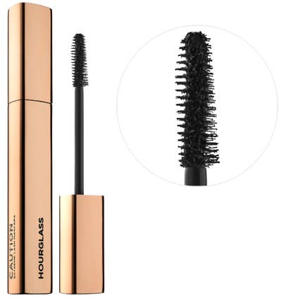 5ef27e6b177 HOURGLASS Caution Extreme Lash Mascara, an all-in-one formula you can use  to build smooth thick lashes that won't smudge or flake.