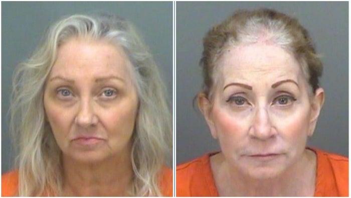 写真左から:メアリー=ベス・トマセッリ容疑者とリンダ・ロバーツ容疑者