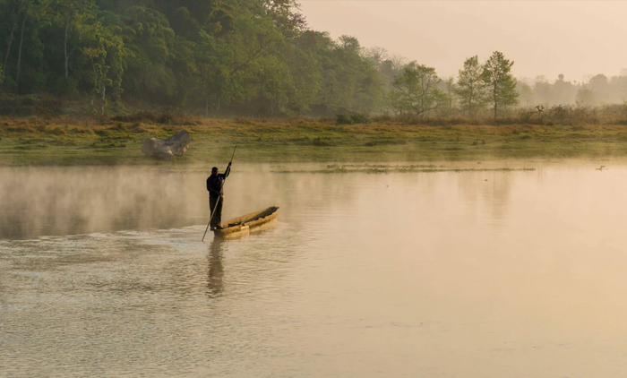 The Rapti River at Chitwan, Nepal, where WWF-backed forces have been accused of human rights abuses.