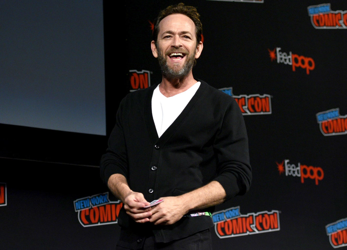 Luke Perry at New York Comic Con in October.