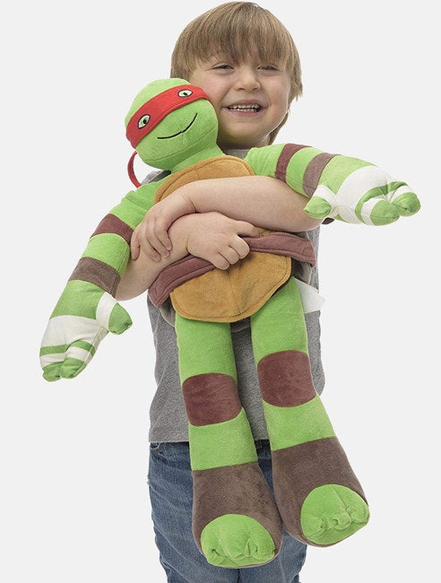 "Promising review: ""I bought this for a 4-year-old for Christmas. I wish you could have seen his eyes when he opened it. He went crazy. The turtle was as big as him! We love it."" —Peggy H