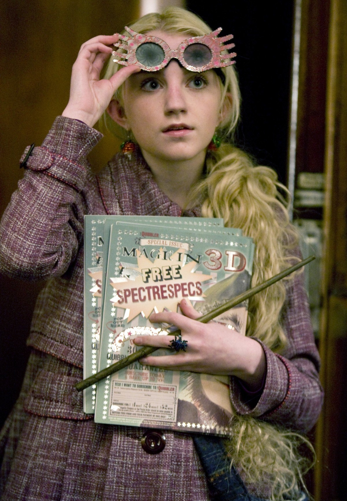 Unlike Hermione's logical personality, Luna's wisdom came from her creativity and intuition. She thought outside of the box and didn't feel the need to conform to everyone's idea of normal.