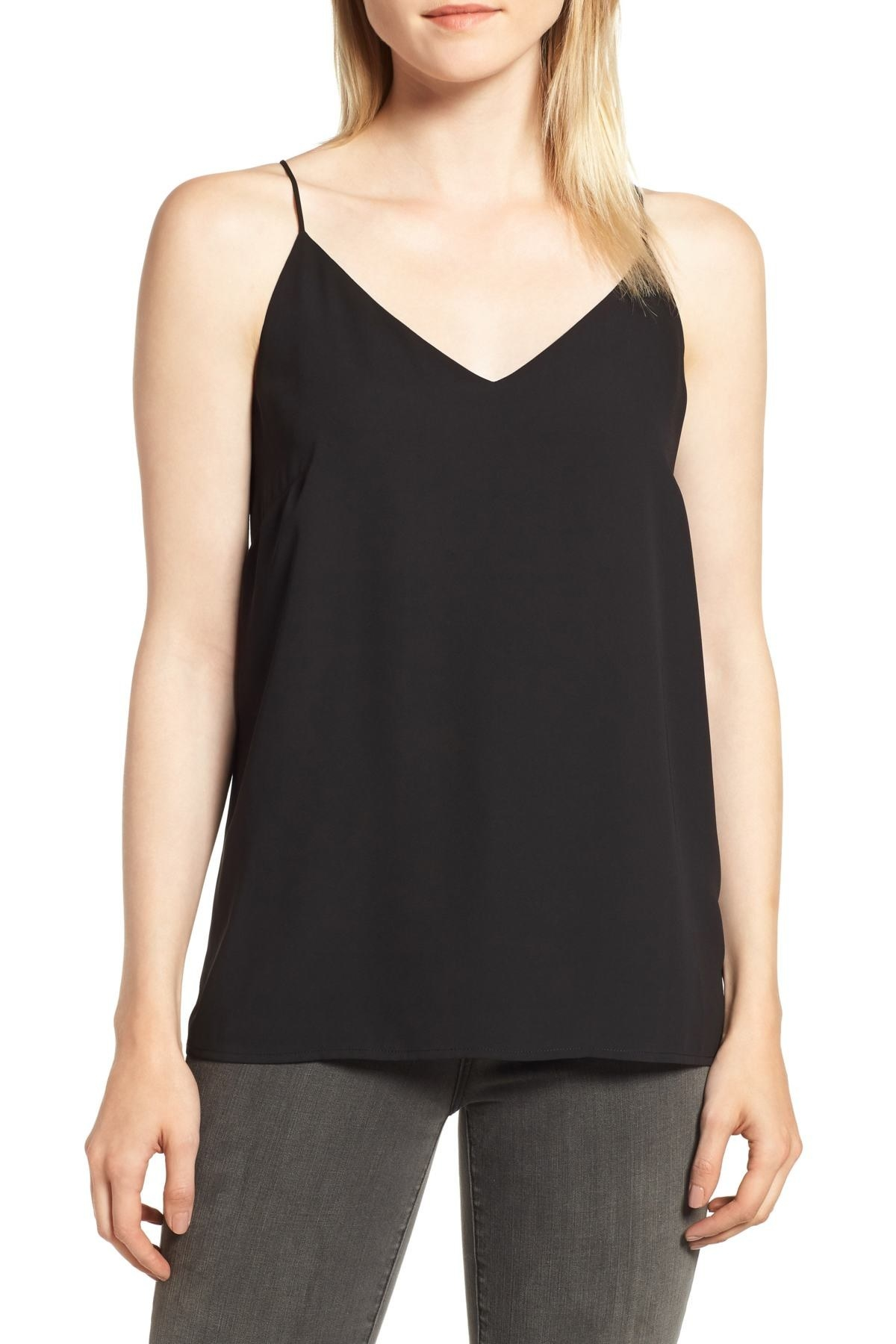 c8210802b A V-neck strappy tank that I hereby grant the highest of titles — the title  of the perfect going out top. Nordstrom Rack