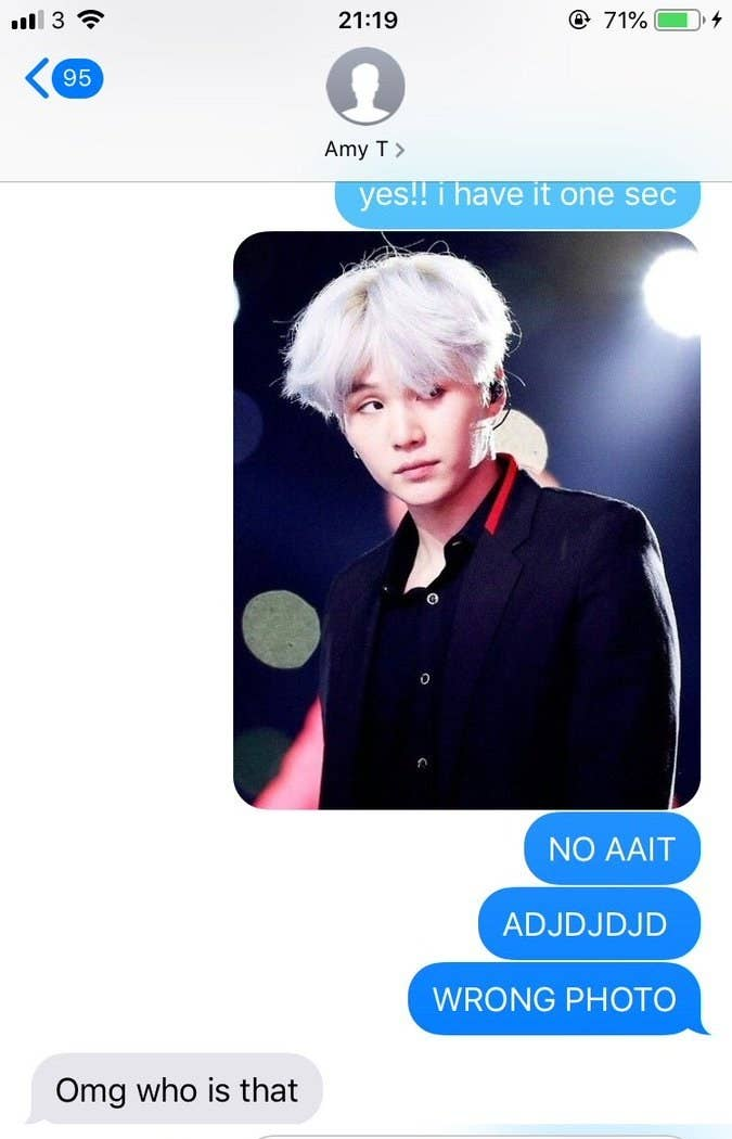 This Student Accidentally Sent Her Tutor A Photo Of Suga And