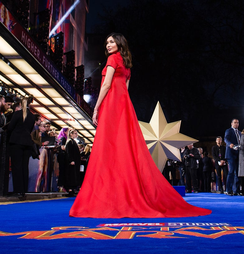 Gemma Chan at the Captain Marvel premiere in London on Feb. 27.