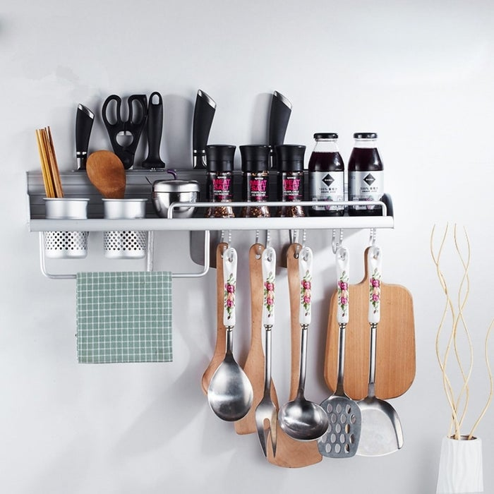 """Promising review: """"I bought this when we moved into our new house. It is useful and it could hold so many items. Because it can be installed in the wall, it saves more space, which helps us to save a lot of room in our kitchen."""" —Amazon Customer Get it from Amazon or $26.99."""