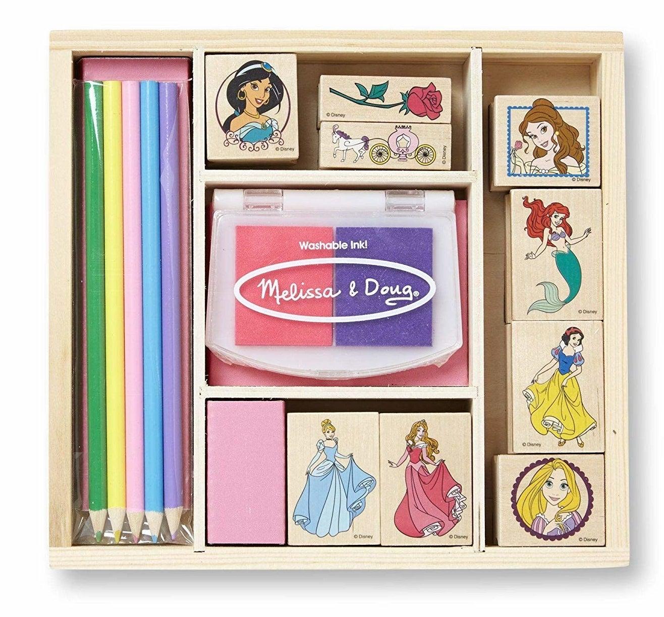 a disney princess stamp kit