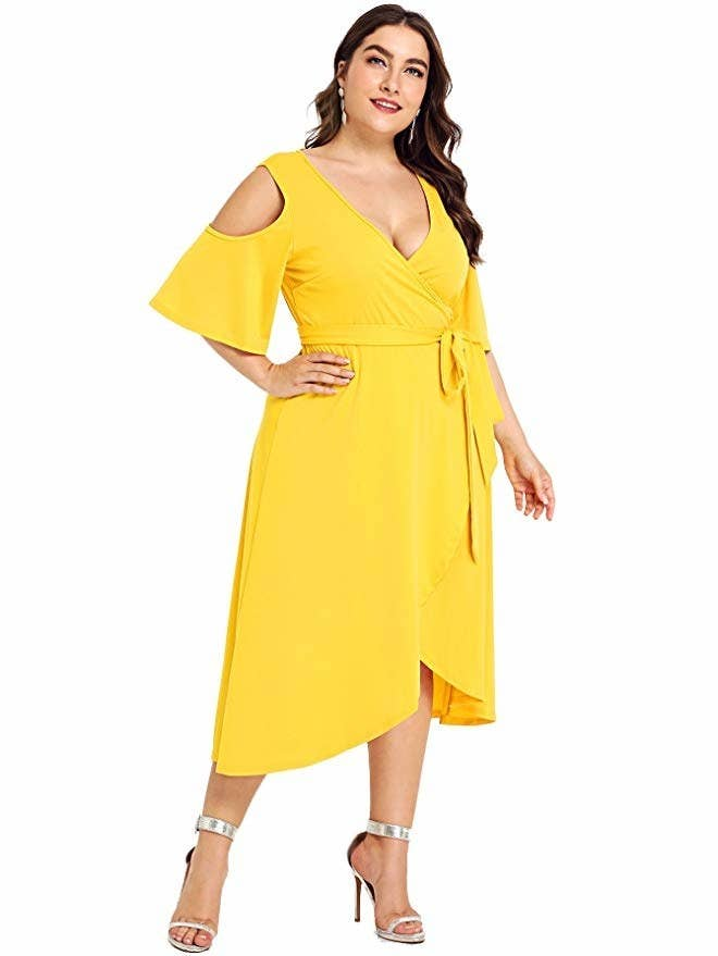c496a0a2be2 A midi dress that ll help you give a ~cold shoulder~ to anyone who tells  you you don t need any more dresses. You don t need that kind of negativity  in your ...