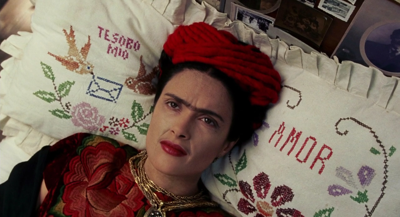 The director: Julie TaymorThe premise:This film covers the life of Frida Kahlo and portrays both her most important moments as an artist and as a person who must deal with the aftermath of a horrific accident for the rest of her life.