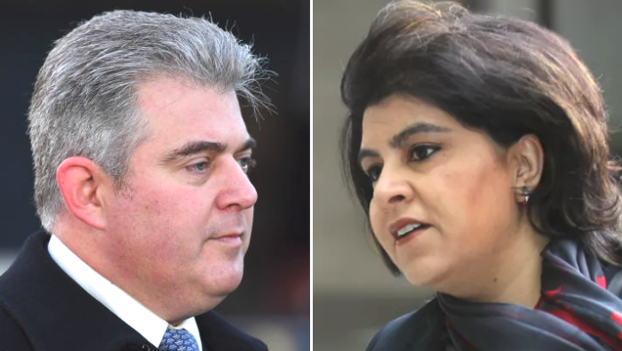 Tory party chair Brandon Lewis, and former chair Sayeeda Warsi.