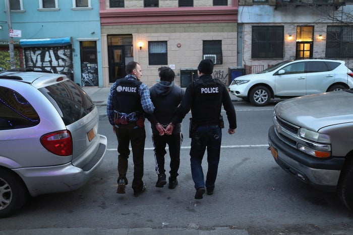 Immigration and Customs Enforcement (ICE), officers arrest an undocumented Mexican immigrant in New York City.