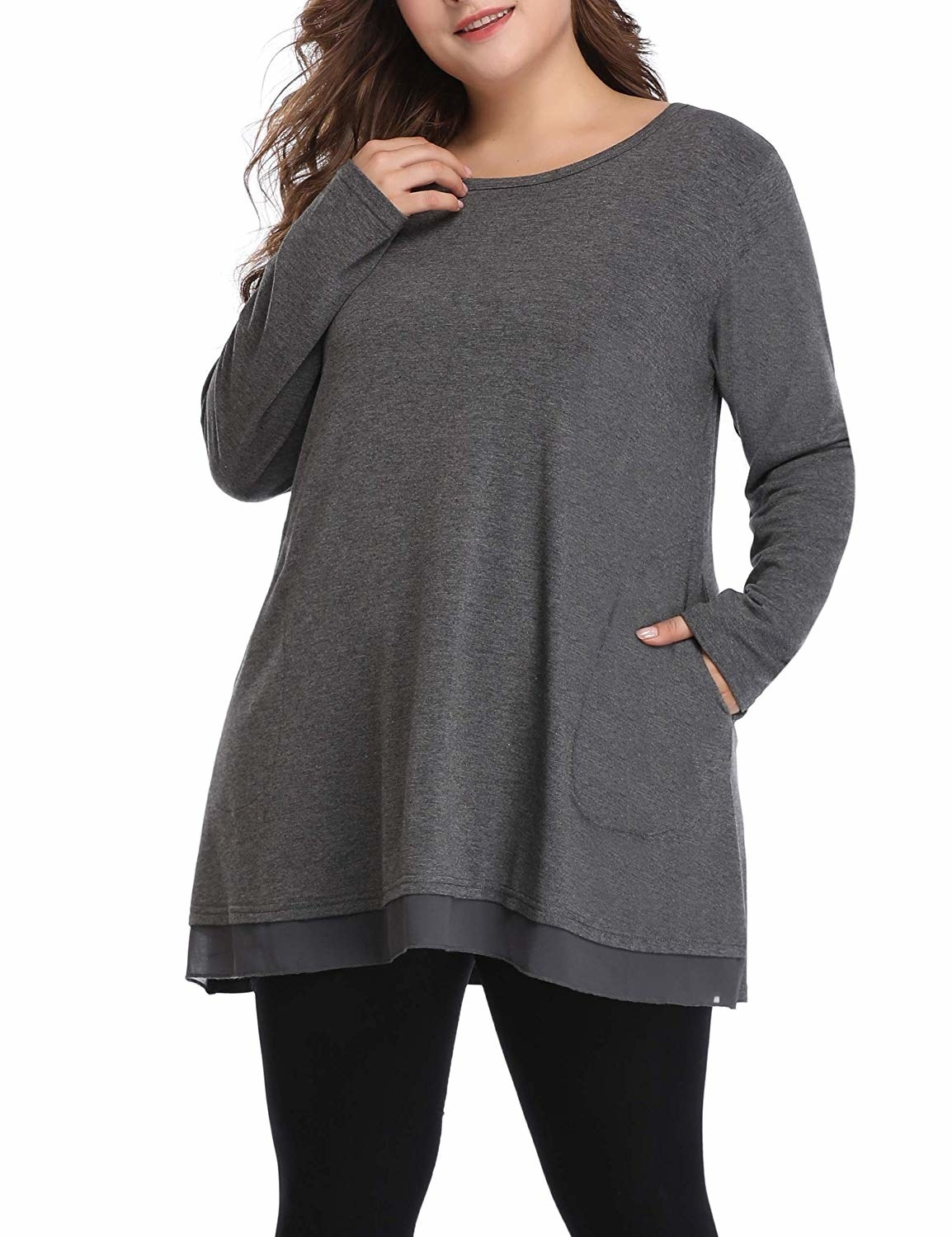 long sleeve shirt with front pockets
