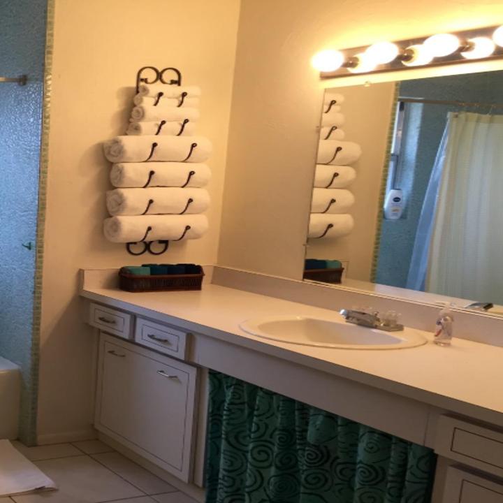 the towel rack mounted