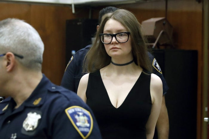 "Anna Sorokin, aka Anna Delvey, aka the alleged ""Soho Scammer,"" in New York County Supreme Court on March 27."
