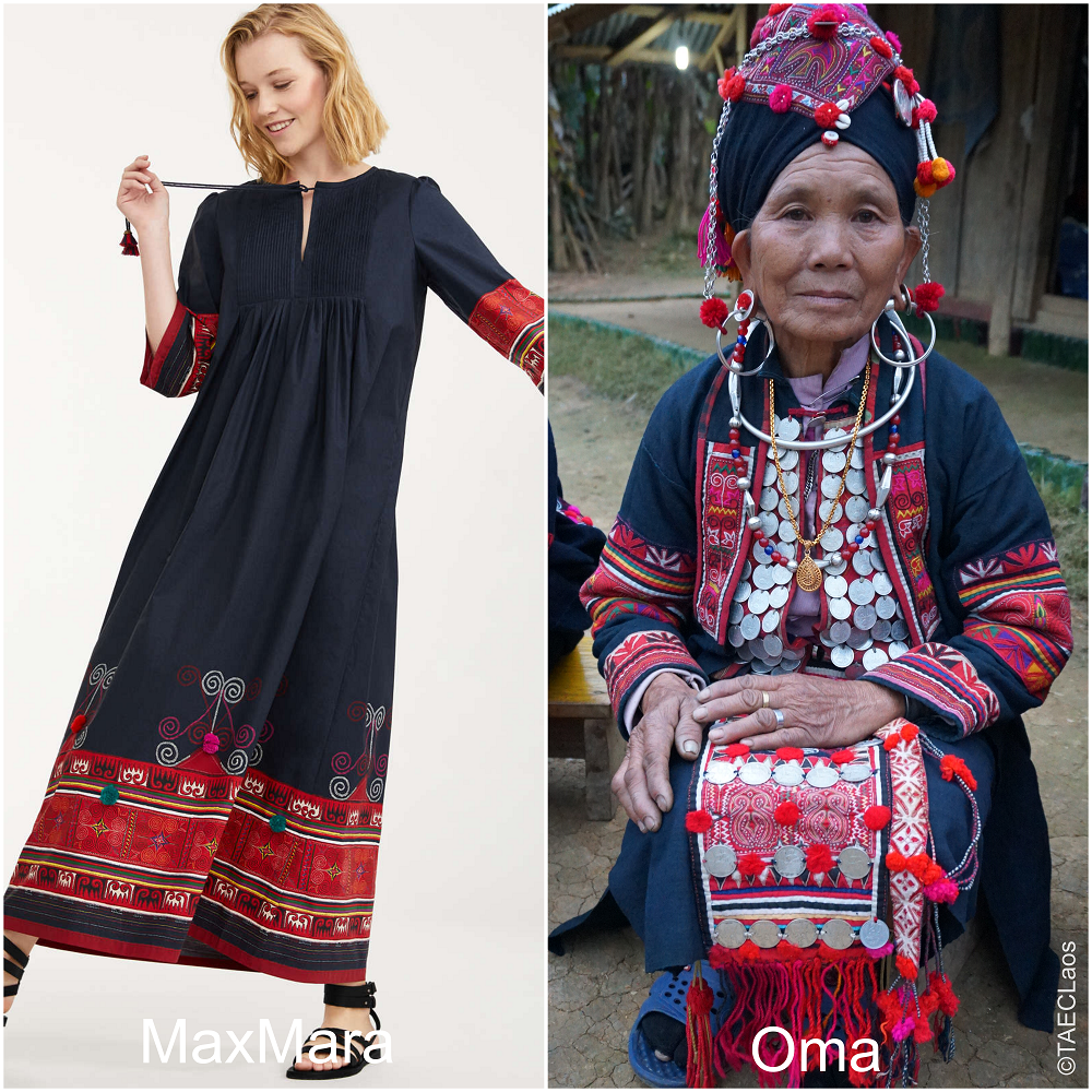 MaxMara Allegedly Ripped These Patterns Off An Ethnic Minority In Laos Called The Oma