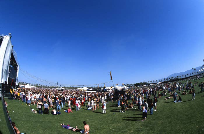 The atmosphere at Coachella on April 28, 2001.