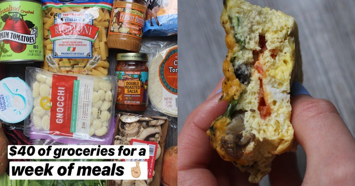 Here's A $40 Weeklong Meal Plan You Can Actually Follow