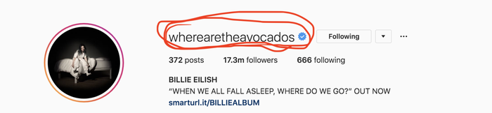 As a Billie stan who's been following her for quite some time now, where her random AF handle came from is something I've always been curious about but never thought I'd get the answer to. Billie's just mysterious like that.