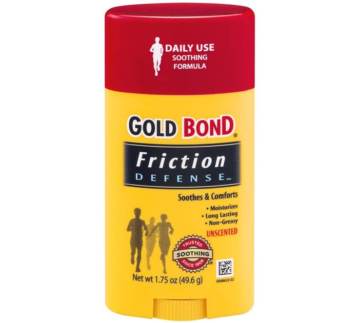 deodorant-like stick of Gold Bond Friction Defense