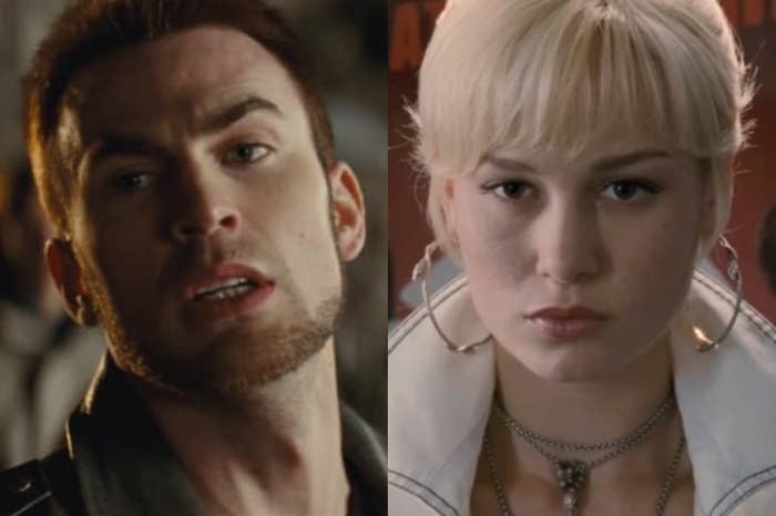 Chris Evans as Lucas Lee and Brie Larson as Envy Adams in 2010's Scott Pilgrim vs. the World.