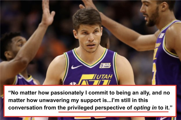 on sale c57b0 2ba58 NBA's Kyle Korver Reflects On His White Privilege And Racial ...