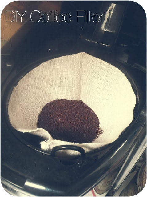 DIY Reusable Coffee Filter Instructions