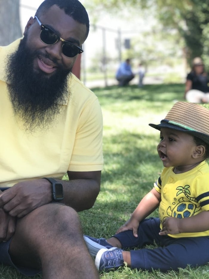 "Trajuan added: ""The general online responses are dope! Like I said I didn't think it would be big at all so it's amazing seeing the reactions and positivity. That's what it's all about. The best responses have been all the participating dads. ""Showing another side of fatherhood and having a community supporting each other. Just refreshing to see with a lot of good vibes. I just hope people take away the cool parts of life and social media. Twitter gives laughs, tears, motivation, arguments. I just want to provide a happy moment."""