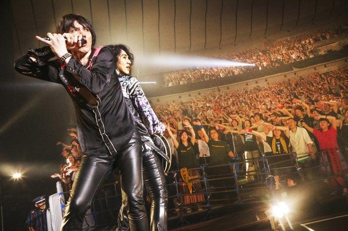 上の画像は、復活を祝したアリーナツアー「THE YELLOW MONKEY SUPER JAPAN TOUR 2016」でのLOVIN(吉井和哉)とEMMA(菊地英昭)だ。2016年以降の彼らの活躍を写真で振り返る。