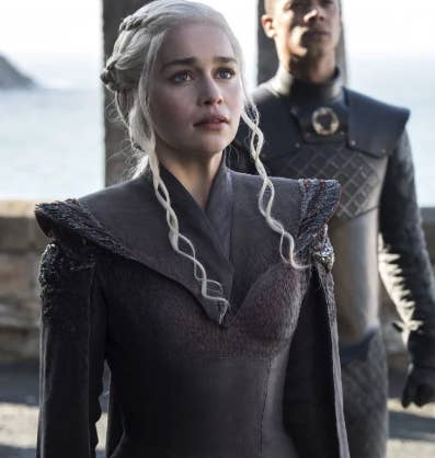 1. How are Jon Snow and Daenerys related? The short answer is: Daenerys is Jon Snow's aunt. Jon is the son of Rhaegar Targaryen and Lyanna Stark. Rhaegar is Daenerys' much, much older brother, who actually died before she was even born. Here's an in-depth look at Jon and Dany's family history if you want to learn more.2. Who is Daenerys Targaryen's mother?Daenerys' mother was Rhaella Targaryen. We've never seen her on the show or even heard her really mentioned. Rhaella died giving birth to Daenerys (just one of the many things Dany and Jon have in common). 3. Who is Daenerys Targaryen's dad?Daenerys' dad was the Mad King himself, Aerys II – he's the guy Jaime Lannister killed during Robert's Rebllion. Aerys II was his wife Rhaella's brother – the Targaryens really were super into incest. 4. How old is Daenerys?Dany is 17 when the show begins. It's hard to say exactly how much time has passed since then, but I'd guess she's now supposed to be in her early-to-mid 20s.5. Are Jon Snow and Daenerys cousins?No! Once again, Jon is Dany's nephew.