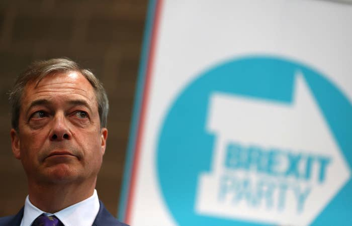Nigel Farage during the launch of the Brexit Party on April 12 in Coventry.