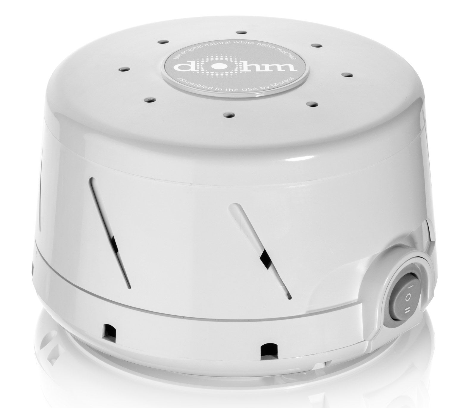 """It's just white noise, but it's like a mix between a fan and a storm. You can adjust the sound levels, too. It's a little pricey, but by far the best out there IMO."" —Mollie Guttman, Facebook""My Dohm white noise machine has literally saved my marriage."" —j11thGet it from Walmart for $44.95+ (available in three colors)."