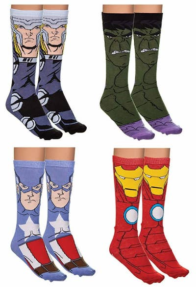 444561243bf Avengers crew socks that ll make any pair of shoes look ~Ultron~ cool.  Amazon