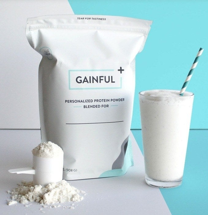 What you'll get: A customized bag of protein powder with 30 servings. Just fill out a quick quiz about your diet, current workout schedule, and body type, and you'll have your very own bag of protein powder blended just for you! Get it from Gainful starting at $1.63+/serving (30 servings per bag).