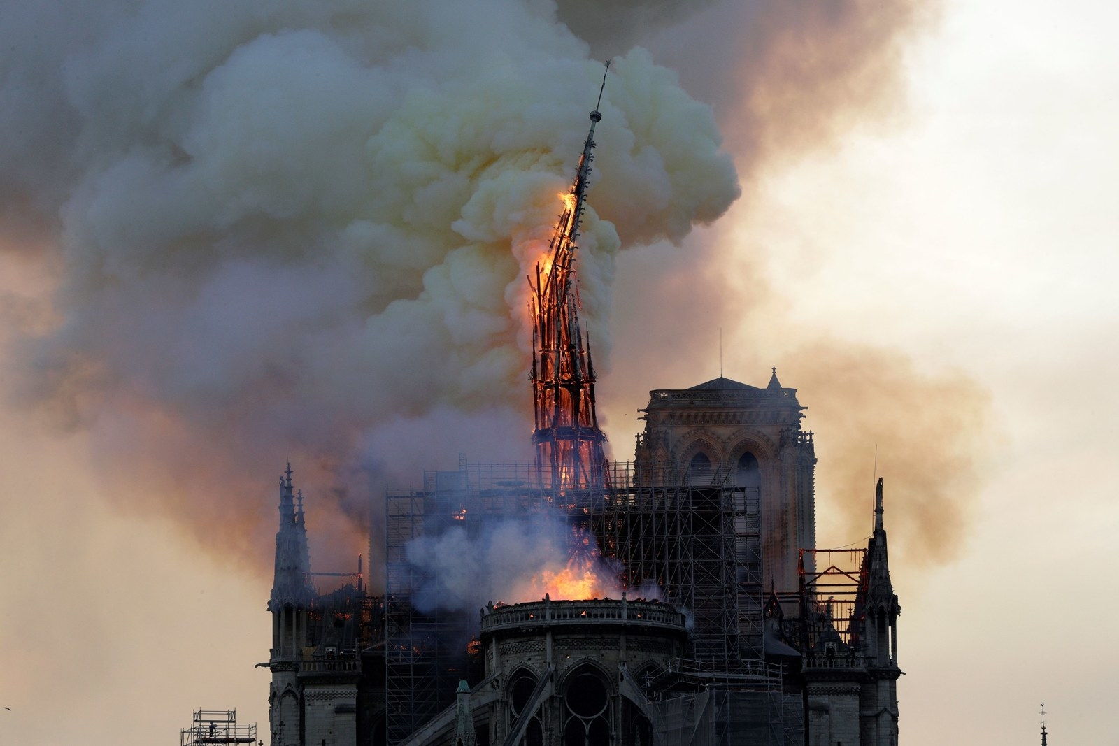 The Notre Dame Spire Collapses In Fire