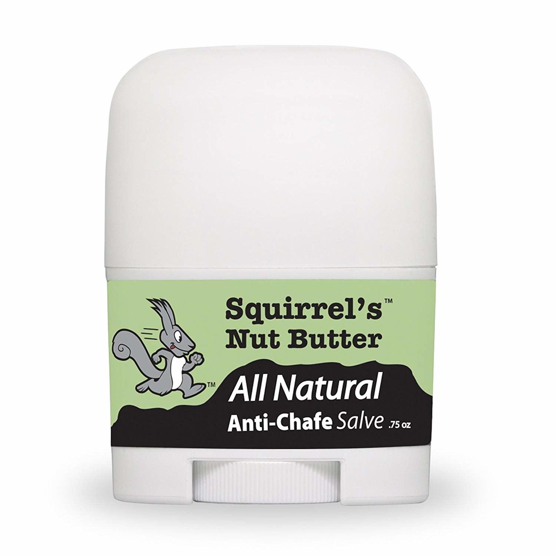 Squirrel's Nut Butter All natural Anti-Chafe Salve, in a a .75oz mini deodorant tube