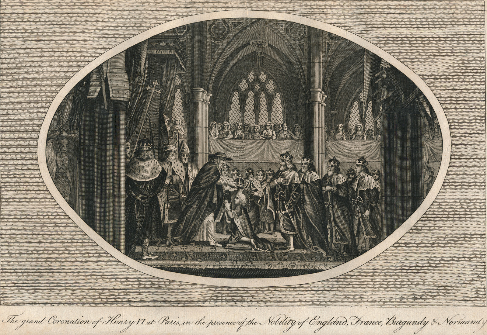 An artist's rendering of Henry VI's French coronation at Notre Dame in 1431 (artist unknown).