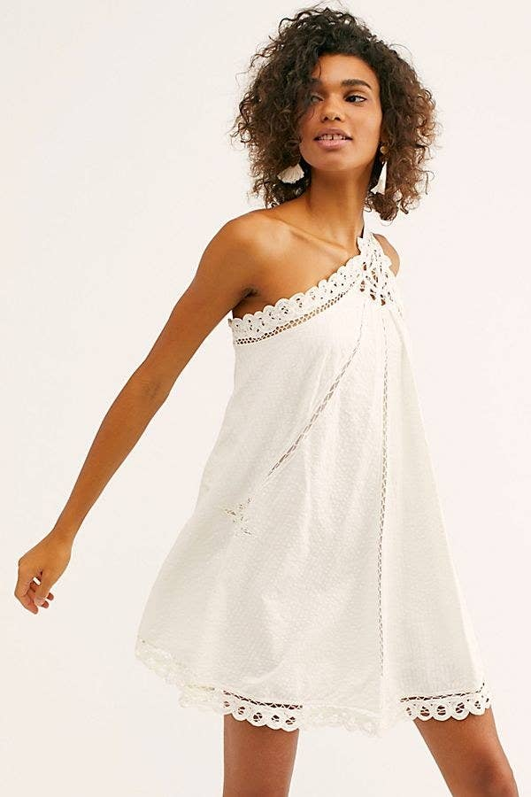 c7a44b06 A one-shoulder dress big on details and light on weight so you can frolic  around doing whatever it is you do in the warm weather while looking like a  dream.