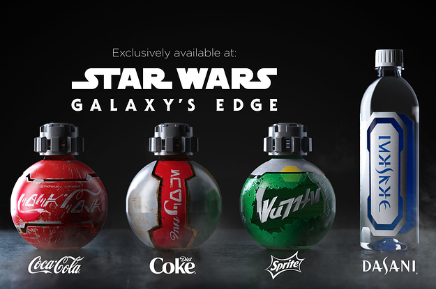 "Here Are The New Coca-Cola Bottles That'll Be At ""Star Wars: Galaxy's Edge"""