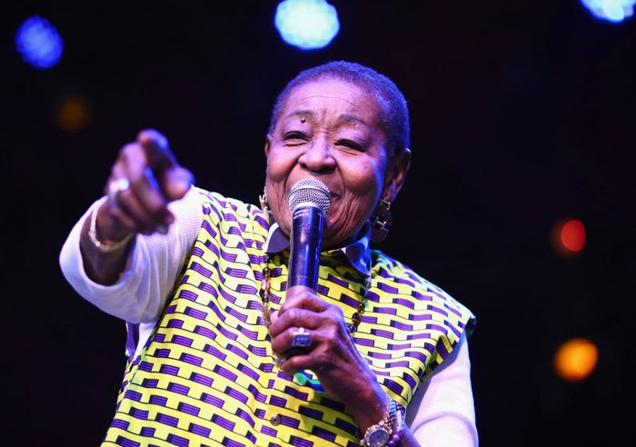 The Trinidadian icon (née Linda McCartha Monica Sandy-Lewis) also became the first-ever calypso performer to play a full set at the annual music and arts extravaganza.