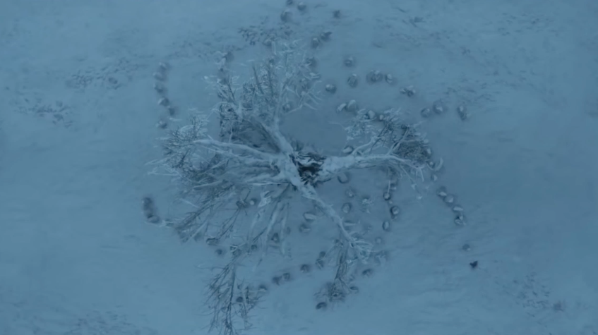 This is obviously an important place for the White Walkers. It is the spot of their creation, after all. Perhaps the spiral pattern is simply a reference to this – a mark they leave on the world. Or maybe it's connected to their magic, and they need to keep recreating it in order to do...whatever they plan to do.