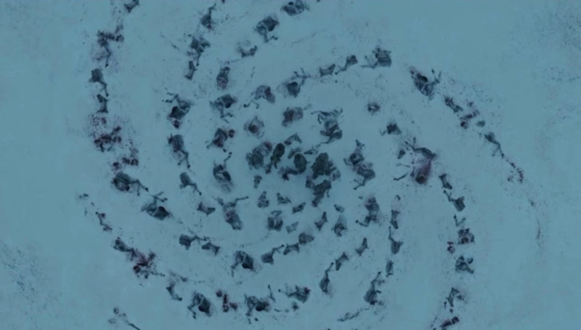 """Mance says """"always the artists"""", implying he has seen this type of pattern created by the White Walkers before – or that he knows of it, at least."""
