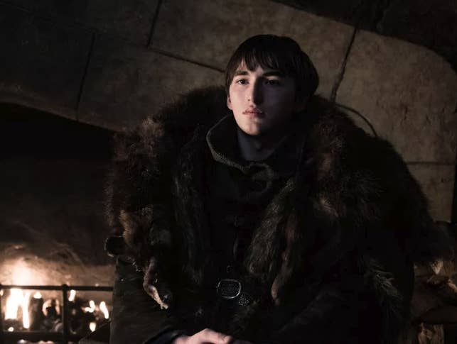 In fact, he's been pretty damn robotic. He seems to have forgotten how to be a person. Like in the Season 8 premiere, when Jon and Dany were talking to Sansa after arriving at Winterfell, and Bran interrupted their conversation to start screaming about the Night King. Or when he then just sat around for the whole episode staring at people — secretly waiting for Jaime Lannister (you know, the guy who pushed him out of a window in Season 1) to show up. And then when Jaime did show up, Bran just...stared at him??? Bran's bizarre behavior is distressing, if you care about his character, but it's also low-key hilarious. Here are some of the best Bran memes from the Game of Thrones Season 8 premiere...