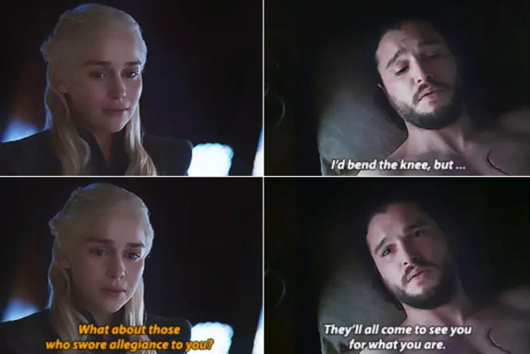 One or two executions surely won't change his opinion of that entirely. After all: he's witnessed Dany risk her life and her dragons to save people, and he's seen her abandon her fight for the Iron Throne (for now) in order to fight for the North. Those things count for something, even if the rest of the North isn't great at recognising it.