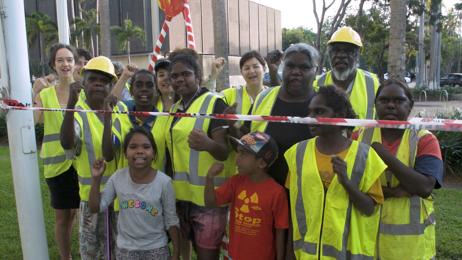 Indigenous Traditional Owners Drilled Parliament Lawns To Show Politicians What It Feels Like